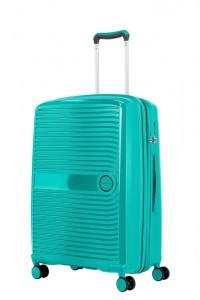 Travelite Skořepinový cestovní kufr Ceris M Green 72/83 l