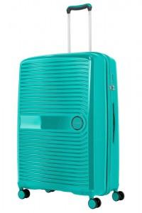 Travelite Skořepinový cestovní kufr Ceris L Green 100 l