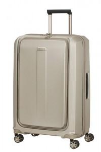 Samsonite Skořepinový cestovní kufr Prodigy Spinner EXP M 75/85 l – zlatá