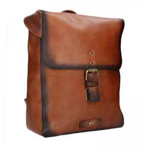 Dámský kožený batoh Daag Marela – hnědá