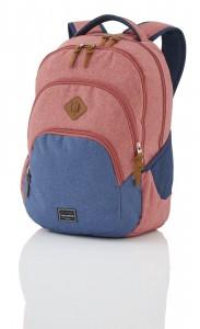 Travelite Basics Backpack Melange Red/navy