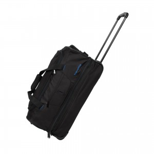 Travelite Basics Wheeled duffle S Black/blue 51/64 l