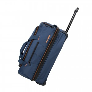 Travelite Basics Wheeled duffle S Navy/orange 51/64 l