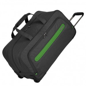 Travelite Madeira Wheeled Duffle Anthracite/Green 60 l