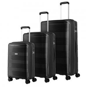 Travelite Zenit S,M,L Black – sada 3 kufrů