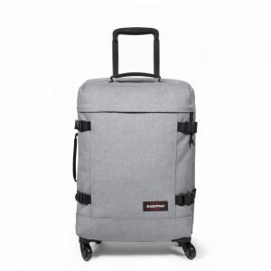 EASTPAK Palubní cestovní taška na kolečkách Trans4 S Sunday Grey 44 l