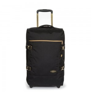 EASTPAK Palubní cestovní taška Tranverz S Goldout Black-Gold 42 l