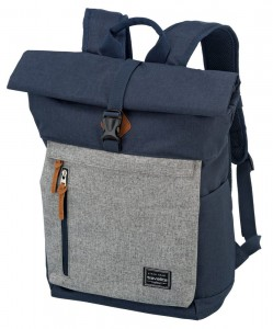 Travelite Městský batoh Basics Roll-up Navy/Grey 35 l