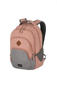 Travelite Městský batoh Basics Melange Rose/grey 22 l