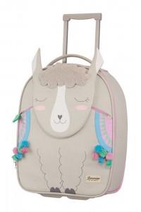Samsonite Kabinový kufr Happy Sammies Upright Alpaca Aubrie 23 l – šedá