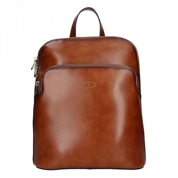 Dámský kožený batoh Katana Alens – hnědá