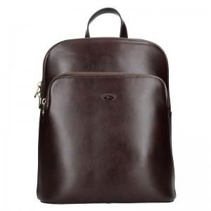 Dámský kožený batoh Katana Alens – tmavě hnědá