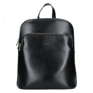 Dámský kožený batoh Katana Alens – černá
