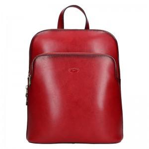 Dámský kožený batoh Katana Alens – červená