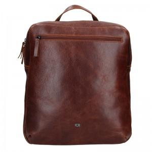 Pánský kožený batoh Daag Sanco – hnědá