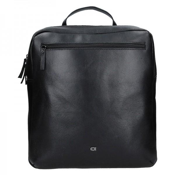 Pánský kožený batoh Daag Sanco – černá