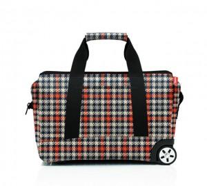 Cestovní taška na kolečkách Reisenthel Allrounder Trolley Glencheck red