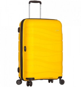 Azure Sirocco T-1233 M cestovný kufor TSA 68 cm 61 l Yellow