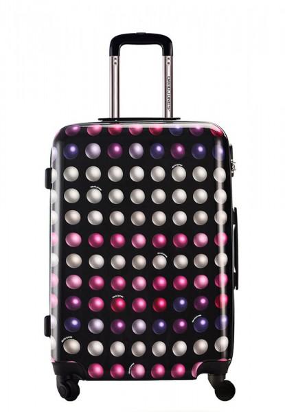 David Jones Paris Cestovní kufr M Buzz Rose BA-2056-3 57 l – černá