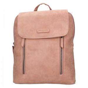 Moderní dámský batoh Enrico Benetti Tinna – růžová 0,650l