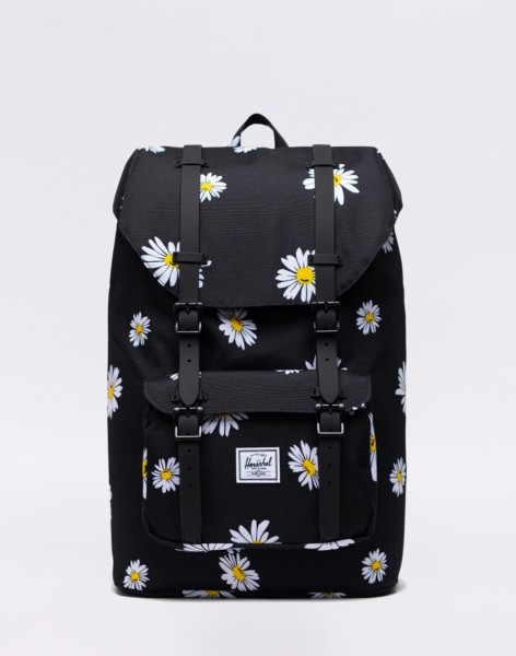 Batoh Herschel Supply Little America Mid-Volume Daisy Black Malé (do 20 litrů)