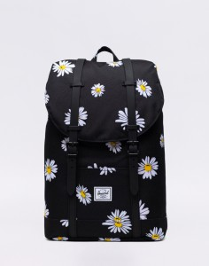 Batoh Herschel Supply Retreat Mid-Volume Daisy Black Malé (do 20 litrů)