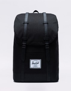 Batoh Herschel Supply Retreat Dark Grid/Black Malé (do 20 litrů)