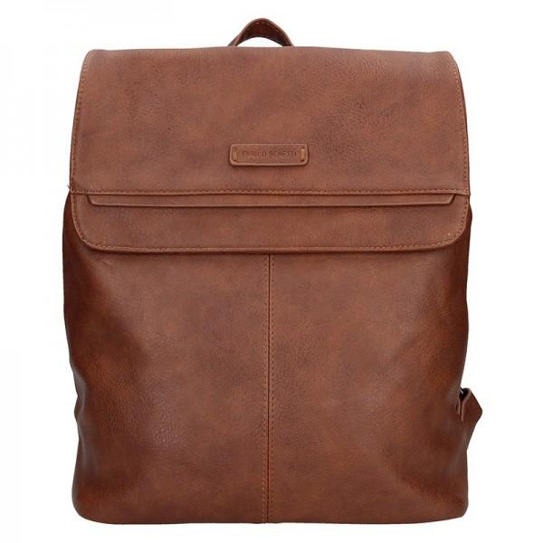 Moderní dámský batoh Enrico Benetti Alexa – hnědá