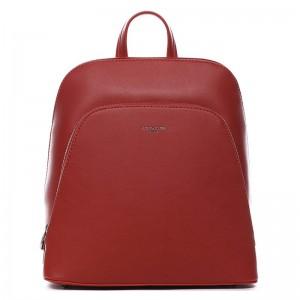 Módní dámský batoh David Jones Thala – červená