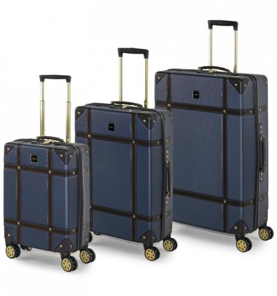 ROCK TR-0193 Vintage S/M/L sada 3 cestovných kufrov TSA 55/68/78 cm Navy