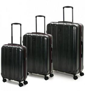 ROCK TR-0201 Graphite S/M/L sada 3 cestovných kufrov TSA 55/65/74 cm Charcoal