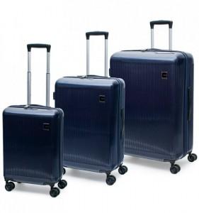 ROCK TR-0181 Windsor S/M/L sada 3 cestovných kufrov TSA 55/67/77 cm modrá