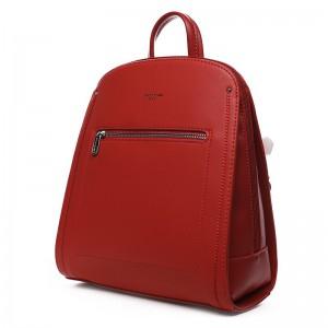 Módní dámský batoh David Jones Klea – červená
