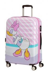American Tourister Cestovní kufr Wavebreaker Disney Spinner 31C 64 l – Daisy Pink Kiss
