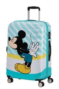 American Tourister Cestovní kufr Wavebreaker Disney Spinner 31C 64 l – Mickey Blue Kiss