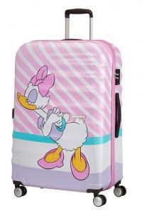 American Tourister Cestovní kufr Wavebreaker Disney Spinner 31C 96 l – Daisy Pink Kiss