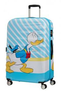 American Tourister Cestovní kufr Wavebreaker Disney Spinner 31C 96 l – Donald Blue Kiss