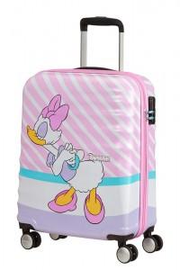 American Tourister Kabinový cestovní kufr Wavebreaker Disney Spinner 31C 36 l – Daisy Pink Kiss