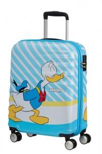 American Tourister Kabinový cestovní kufr Wavebreaker Disney Spinner 31C 36 l – Donald Blue Kiss