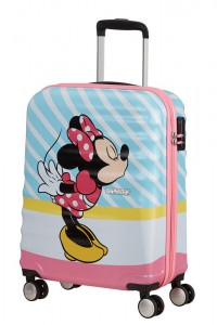 American Tourister Kabinový cestovní kufr Wavebreaker Disney Spinner 31C 36 l – Minnie Pink Kiss
