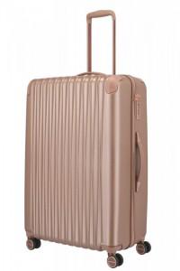 Titan Barbara Glint L dámský cestovní kufr TSA 77 cm 100 l Rose Metallic