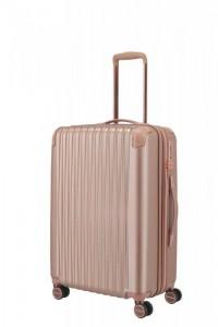 Titan Barbara Glint M dámský cestovní kufr TSA 67 cm 68-78 l Rose Metallic
