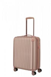 Titan Barbara Glint S dámský palubní kufr TSA 55x40x20 cm 45 l Rose Metallic