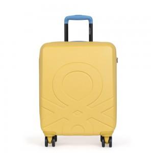 United Colors of Benetton Skořepinový cestovní kufr ULTRA LOGO Medium 60 l – žlutá