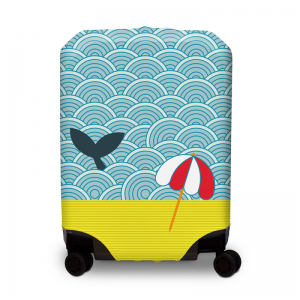 BG Berlin Hug Cover S Light Whale elastický nepromokavý obal na kufr 44-52 cm