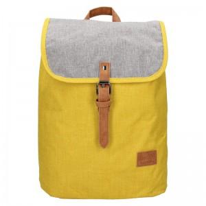 Trendy batoh New Rebels Lyon – žluto-šedá