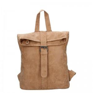 Moderní dámský batoh Piace Molto Gretta – camel