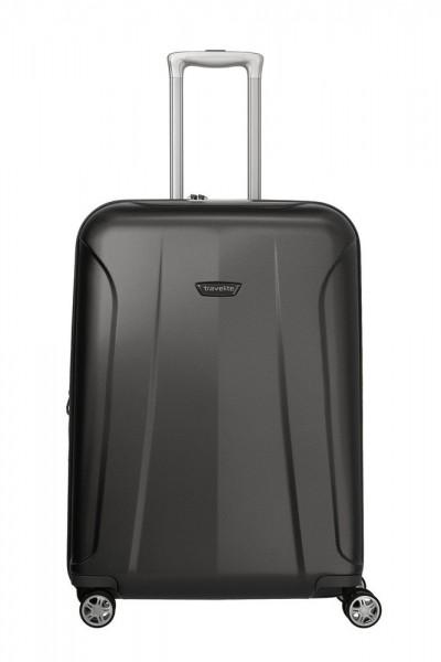Travelite Skořepinový cestovní kufr Elbe 4w M Anthracite 73/84 l