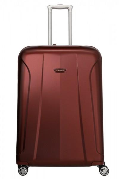 Travelite Skořepinový cestovní kufr Elbe 4w L Red 106 l