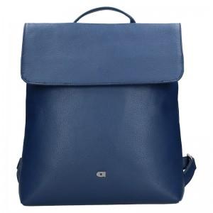 Dámský kožený batoh Daag Mikaela – modrá